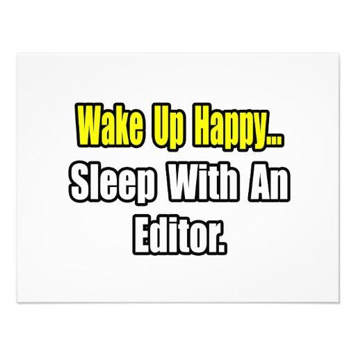 Sleep With an Editor Custom Invitations