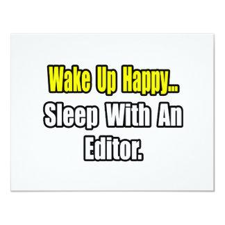Sleep With an Editor 11 Cm X 14 Cm Invitation Card