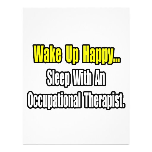 Sleep With An Occupational Therapist Flyers
