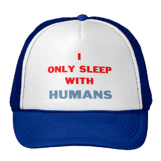 Sleep with Humans Mesh Hats