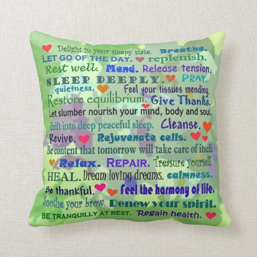 sleep with nature collage pillow