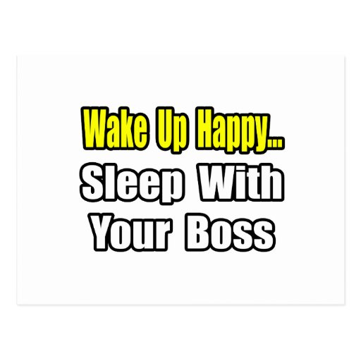 Sleep With Your Boss Postcard