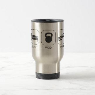 Sleep WOD Bacon - Workout And Weight Lifting Travel Mug