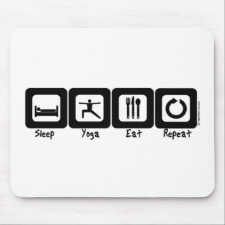 Sleep Yoga Eat Repeat Mouse Mat