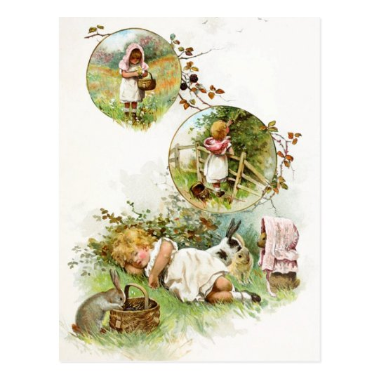 Sleeping and Dreaming of Bunny Rabbits Postcard