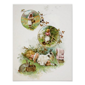 Sleeping and Dreaming of Bunny Rabbits Poster
