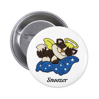 Sleeping Angel Snoozer - Pin On Button 2 Inch Round Button