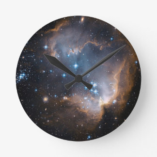 Sleeping Angel Star Cluster Round Clock
