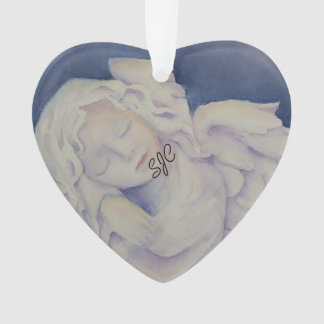 SLEEPING ANGEL VALENTINE ORNAMENT