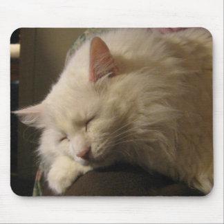 Sleeping Angora Cat Mousepad