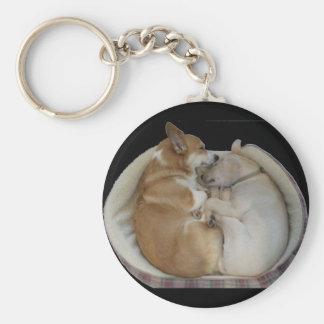 sleeping babies basic round button key ring