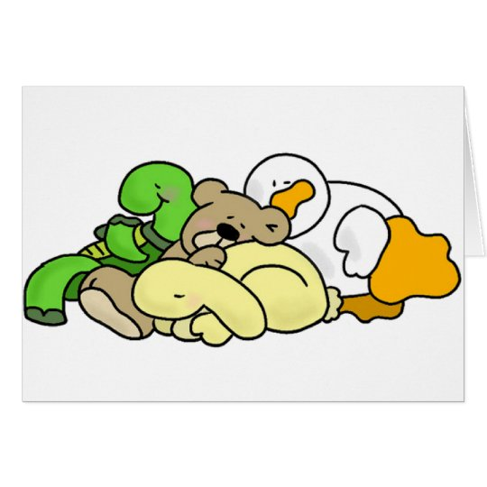 Sleeping Baby Animals Card
