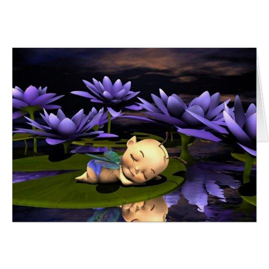 Sleeping Baby Fairy Card