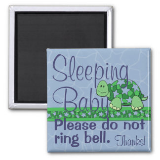 Sleeping Baby Front Door Sign Magnet