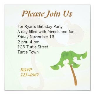 Sleeping Baby Monkey 13 Cm X 13 Cm Square Invitation Card