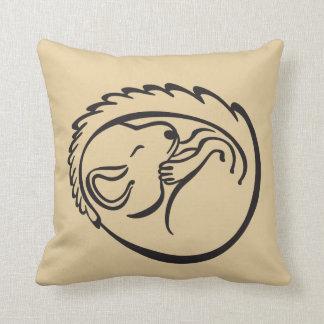 Sleeping Baby Mouse, monochromatic design Cushion