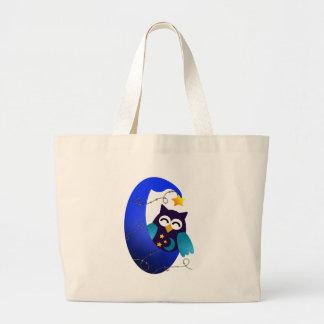 Sleeping Baby Owl Tote Bag