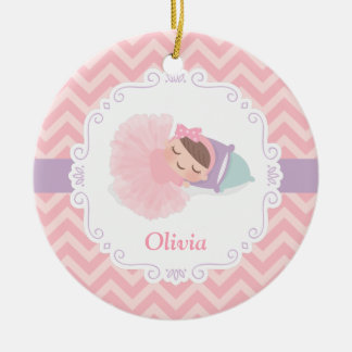 Sleeping Ballerina Baby Girl Personalized Ornament