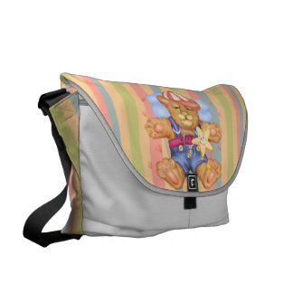 SLEEPING BEAR BABY Rickshaw LARGE Messenger Bag