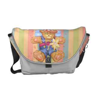 SLEEPING BEAR BABY Rickshaw MEDIUM Messenger Bag