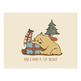 Sleeping Bear Christmas Card Postcard