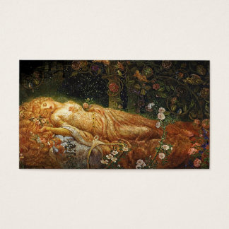 Sleeping Beauty and a Harp