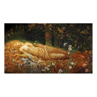 Sleeping Beauty and a Harp Pack Of Standard Business Cards