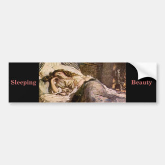 Sleeping Beauty Car Bumper Sticker