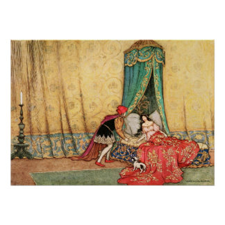 Sleeping Beauty by Warwick Goble Poster