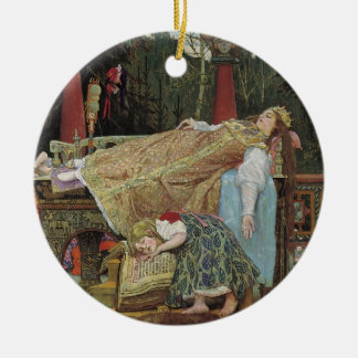 Sleeping Beauty in the Pavilion Christmas Ornament