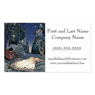 Sleeping Beauty Princess Vintage French Illustrati Pack Of Standard Business Cards