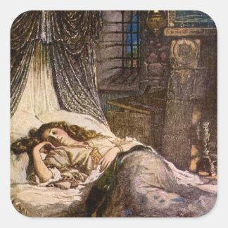 Sleeping Beauty Square Sticker
