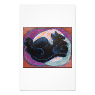 Sleeping Black Cat Flyer Design