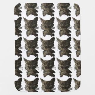Sleeping black Cat Pattern on Baby Blanket