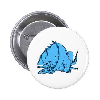 Sleeping Blue Dragon Button