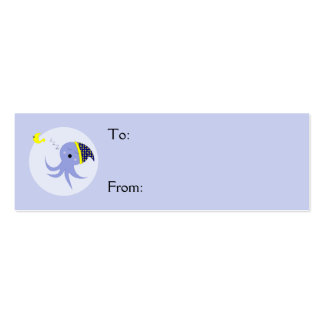 Sleeping Blue Octopus Business Cards