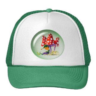 SLEEPING BUBBLE ELF & MUSHROOMS CAP