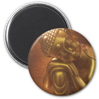 Sleeping Buddha 6 Cm Round Magnet