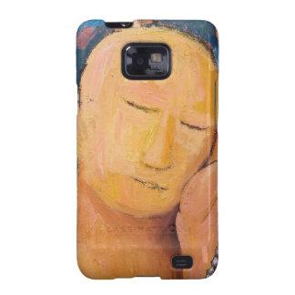 Sleeping Buddha naive expressionism portrait Galaxy SII Cover