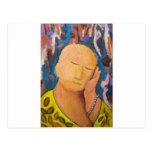 Sleeping Buddha (naive expressionism portrait) Postcards