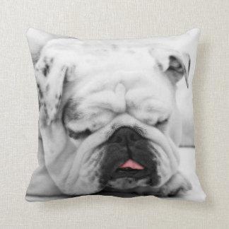 Sleeping Bulldog Cushion