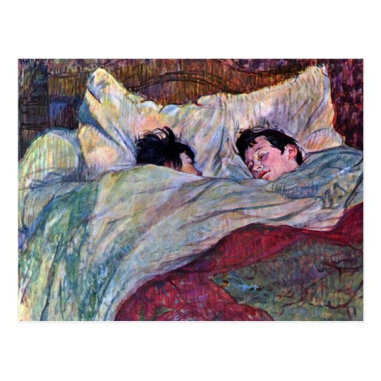 Sleeping by Toulouse-Lautrec Postcard