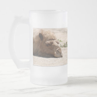Sleeping Camel Frosted Glass Mug