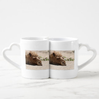 Sleeping Camel Couple Mugs