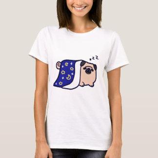 Sleeping Cartoon Pug T-Shirt