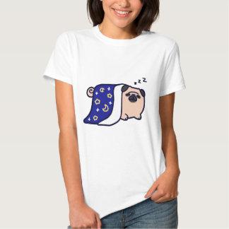 Sleeping Cartoon Pug T Shirts