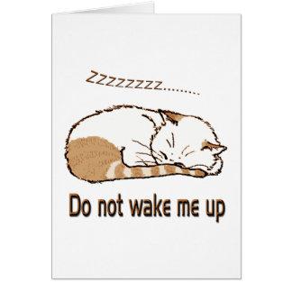 sleeping cat 2 greeting card