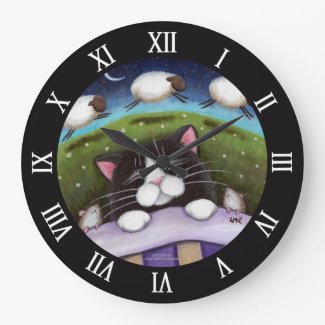 Sleeping Cat Clock