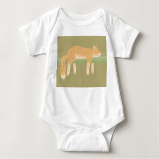 Sleeping Cat Baby Bodysuit T-Shirt