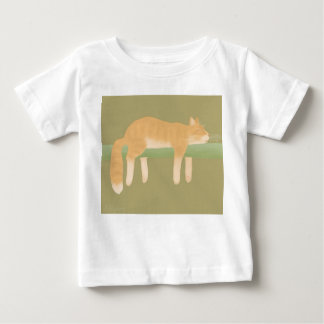 Sleeping Cat Baby Fine Jersey T-Shirt